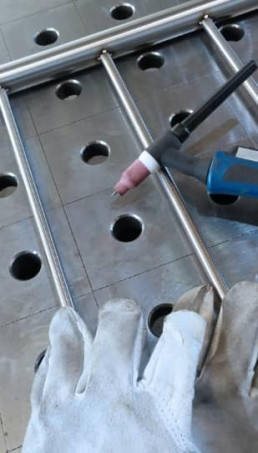 Esempio di saldatura TIG Metal Steel